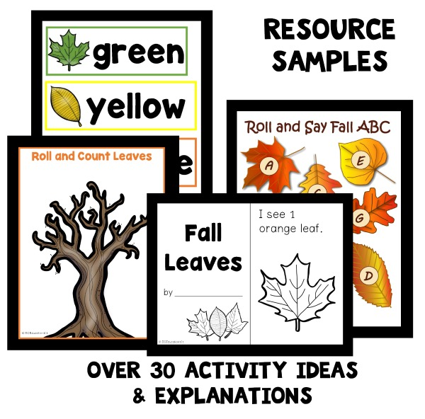 Fall Leaf Theme Preschool Classroom Lesson Plans