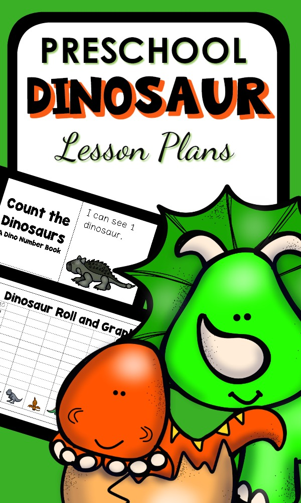 Preschool Dinosaur Activities with printable lesson plans and activities for your preschool dinosaur theme