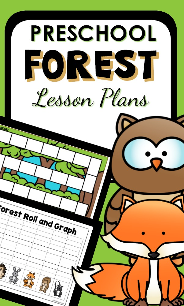 Preschool Forest Theme Activities with hands-on learning activities, printable resources and lesson plans