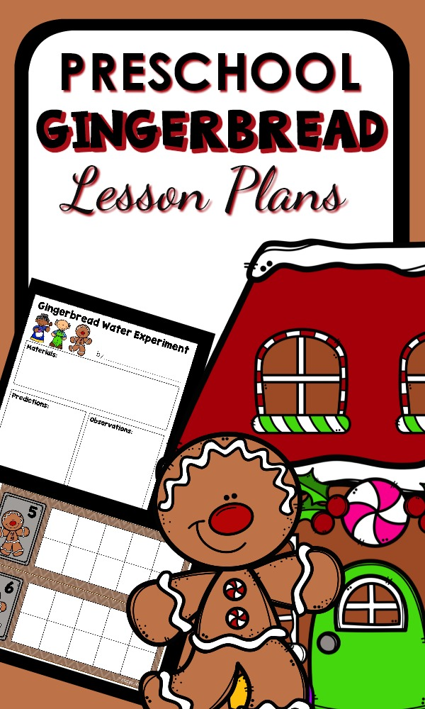 Preschool Gingerbread Man Activities with Printable Lesson Plans and Hands-on Learning Activities