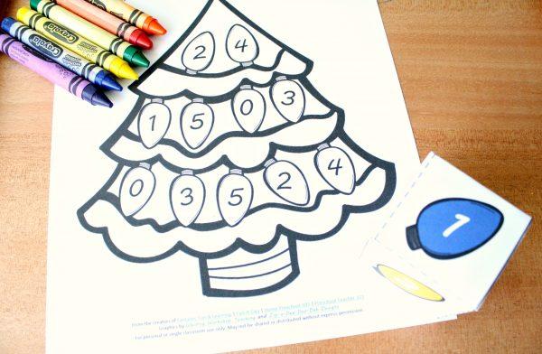 Christmas Tree Roll and Color Math Games - Preschool Teacher 101