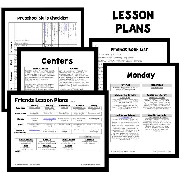 PT Planning Materials-Friends