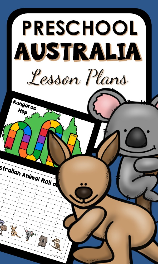 Preschool Australian Animal Lesson Plans, Printables, and Hands-on Learning Activities #preschool #Australia