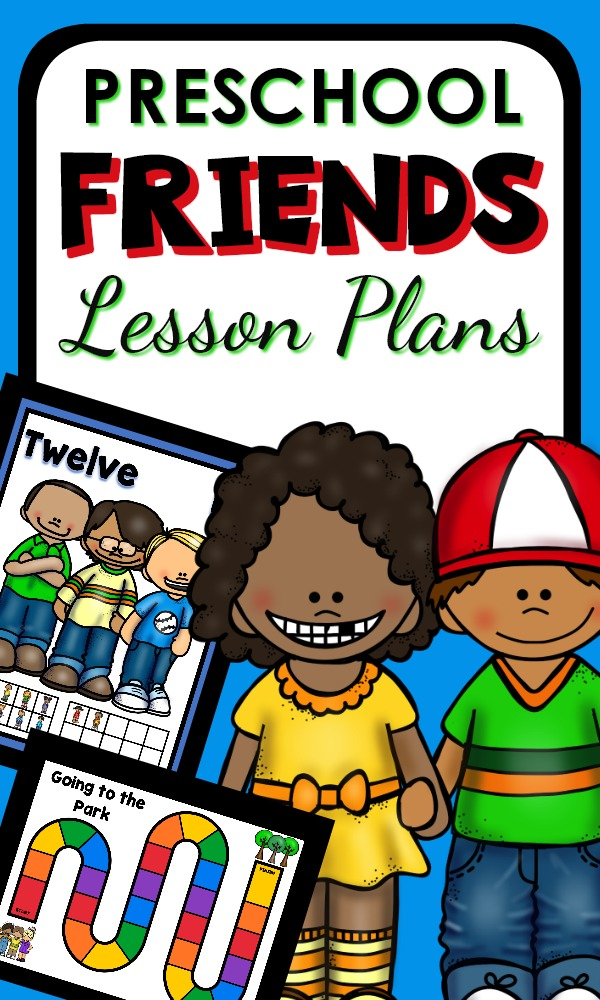 Friend Theme Preschool Activities-Hands-on activities and printable lesson plans for learning about friendship and kindness. Perfect for back to school or Valentine's Day February themes.