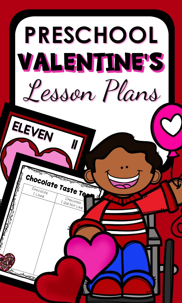 Preschool Valentine's Day Activities with printable lesson plans and fun activities #preschool #valentinesday #lessonplans
