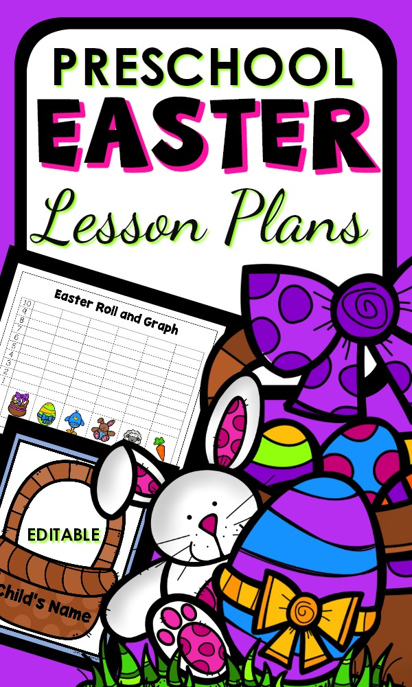 Fun Printable Easter Theme Color Lesson Plans for Early Learners #preschool #homeschool #Easter