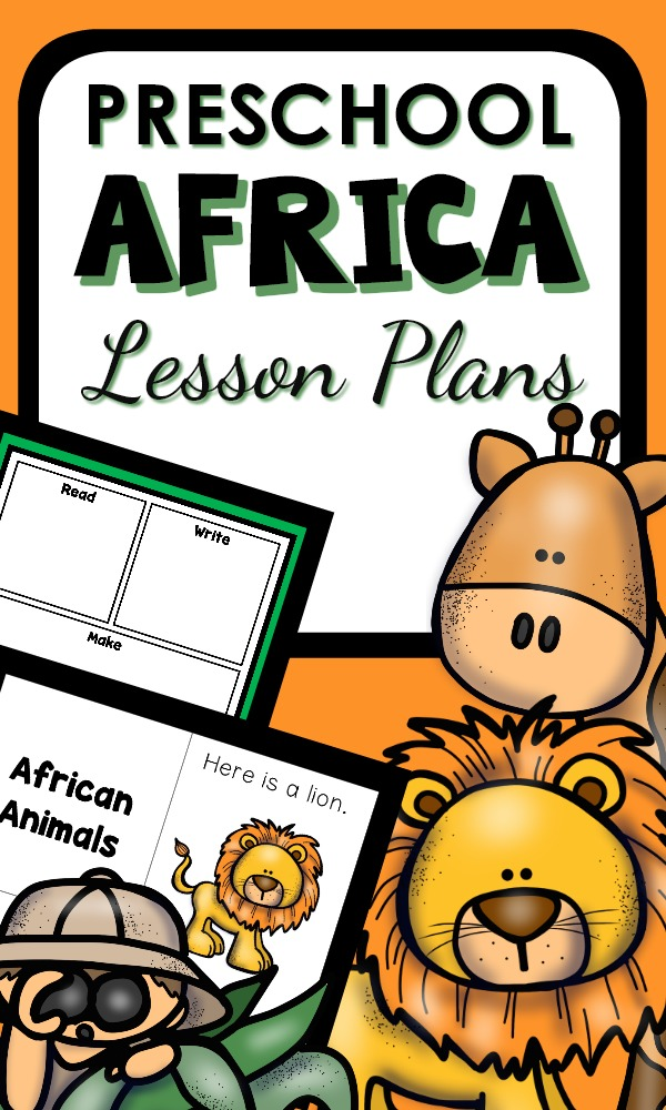 Printable Lesson Plans for kids and with Activity for Math, Science and Reading #preschool #LessonPlans #Africa