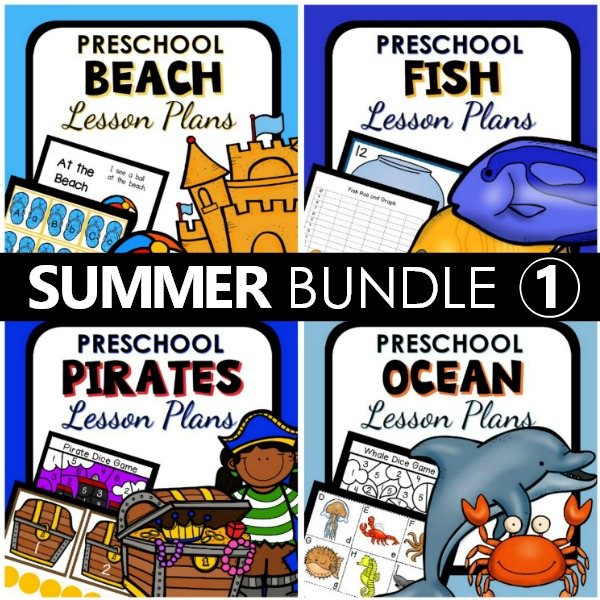 Summer Preschool Lesson Plans Bundle 1