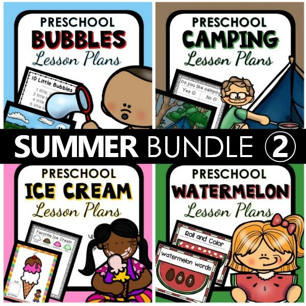 Summer Preschool Lesson Plans Bundle 2
