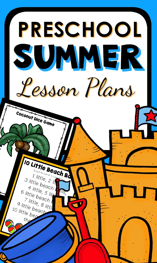 Printable lesson plans for preschool aged kids with fun games and activities #preschool #lessonplans #summer