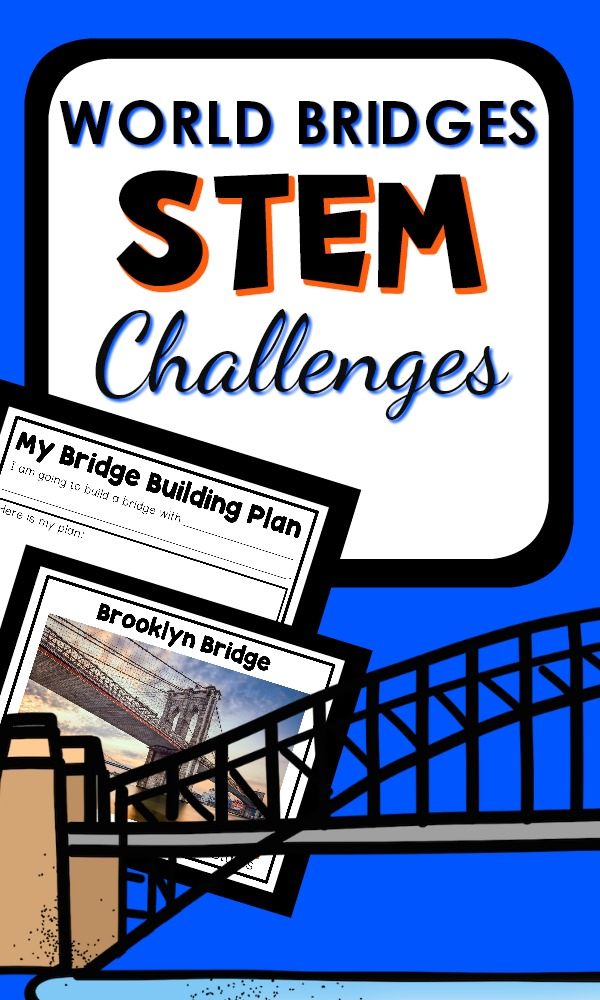 World Bridges STEM Challenges for the preschool block or building center