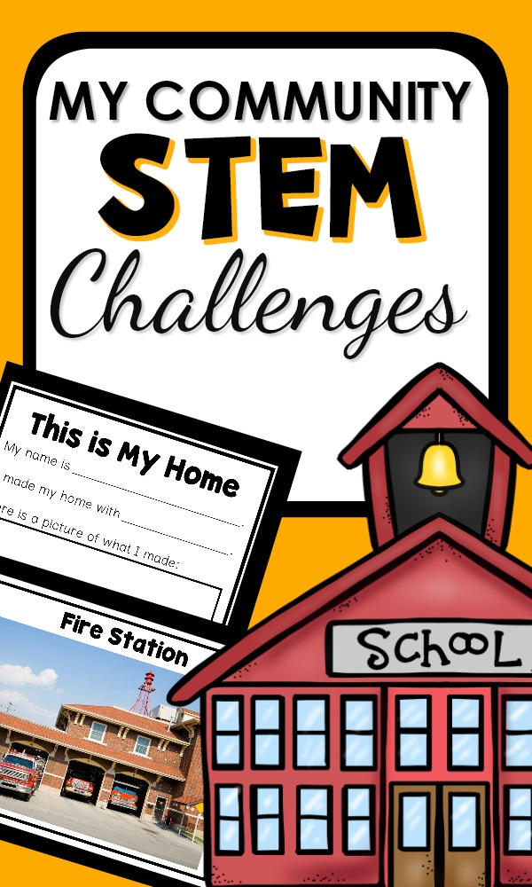 My Community STEM Challenge for Preschool and Kindergarten #STEM #preschool #kindergarten