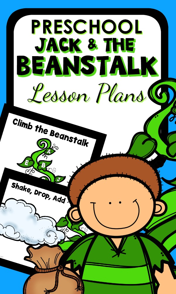 Printable Lesson Plans for preschool Jack and the Beanstalk activities and games for kids #preschool #fairytales #lessonplans