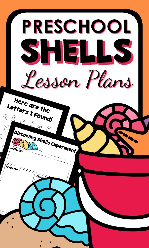 Shell Theme Preschool Lesson Plans and Ocean Activities #preschool #lessonplans #summer