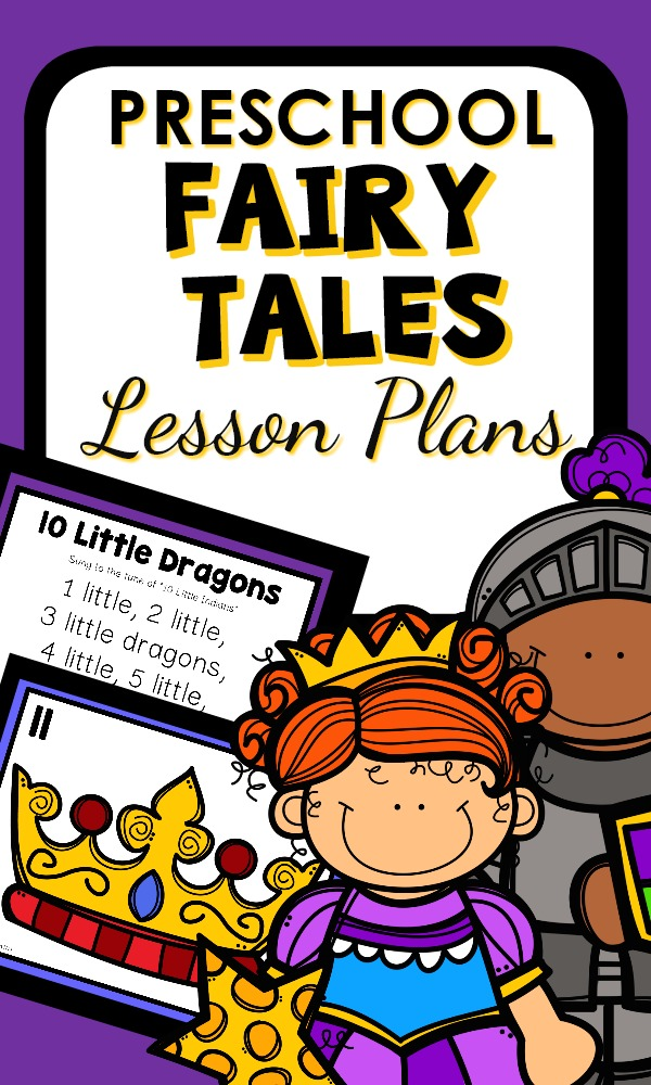 Fairy Tale Theme Preschool Lesson Plans and Printable Activities #preschool #lessonplans