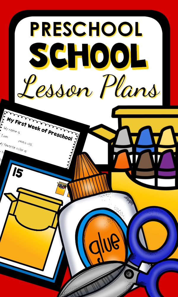 First Week of Preschool Lesson Plans with get to know you activities, ideas for teaching class procedures, and building classroom community