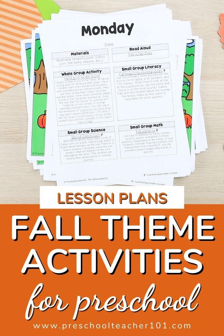 Fall Theme Activities for Preschool