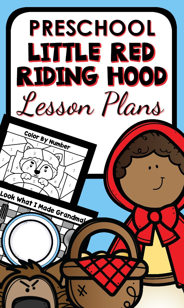 Little Red Riding Hood Preschool Lesson Plans and Activities Fairy Tales and Fables theme activities #preschool #lessonplans