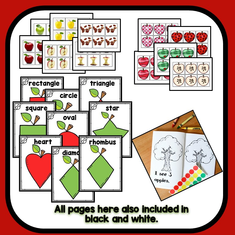 Apple Theme Preschool Classroom Lesson Plans - Preschool ...