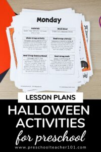 Halloween Theme Activities for Preschool
