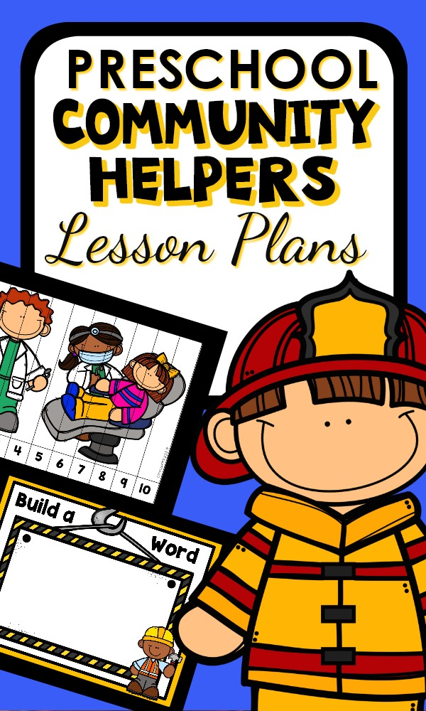 Community Helper Preschool Lesson Plans and Activities #preschool #lessonplans