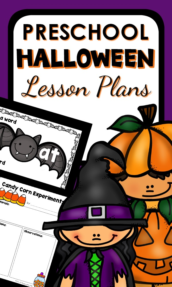 Preschool Halloween Lesson Plans-Printable lesson plans and hands-on Halloween activities #preschool #halloween