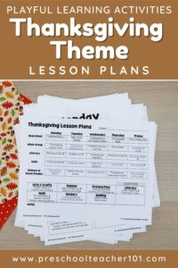 Playful Learning Activities - Thanksgiving