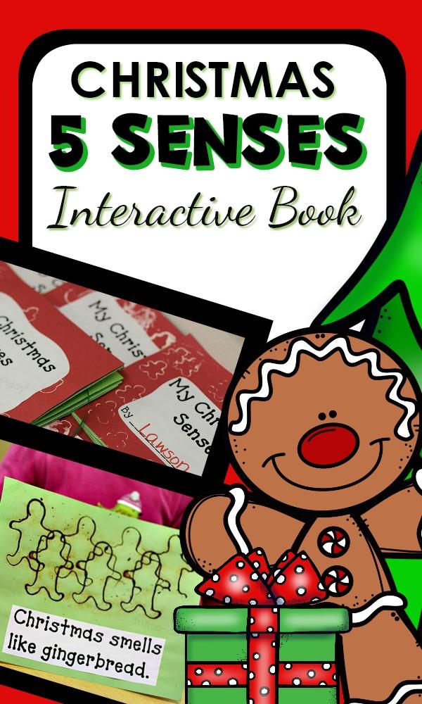 My Christmas 5 Senses Interactive Book and Activities for Preschool and Kindergarten #preschool #christmas #kindergarten
