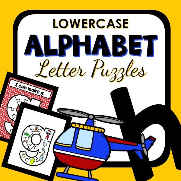 Lowercase Alphabet Letter Puzzles for Preschool