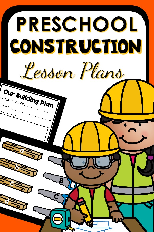 Preschool Construction Theme Activities with printable lesson plans. #preschool #lessonplans
