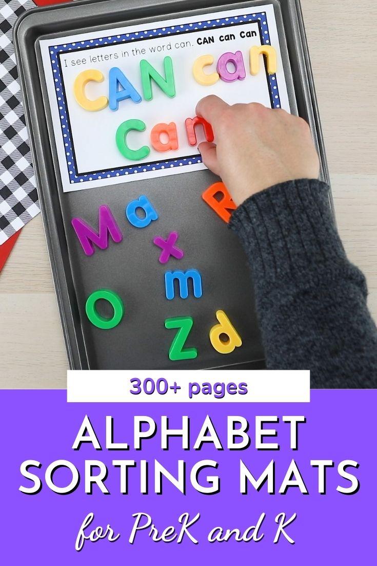 Magnetic Letter Sorting for Preschool