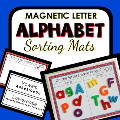 Magnetic Letter Sorting-Alphabet Activities