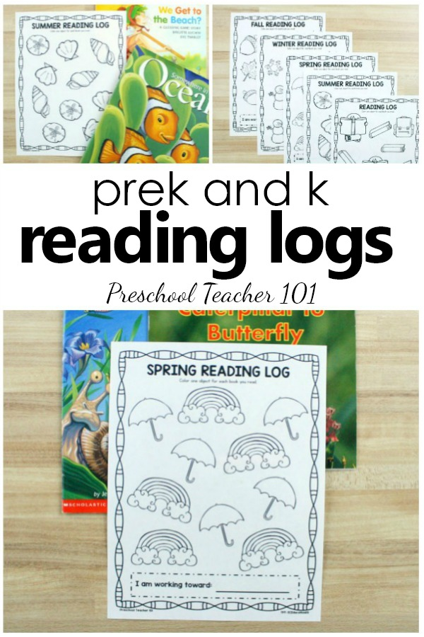 Reading Logs for Preschool and Kindergarten. Seasonal and Nonseasonal Reading Logs for Kids #preschool #kindergarten #literacy