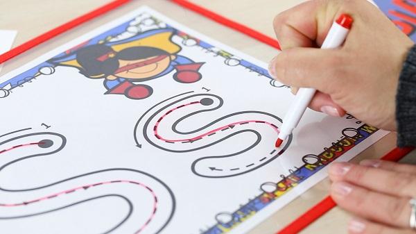 Preschool Superhero Writing Mats
