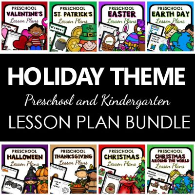 Holiday Theme Lesson Plan Bundle for Preschool