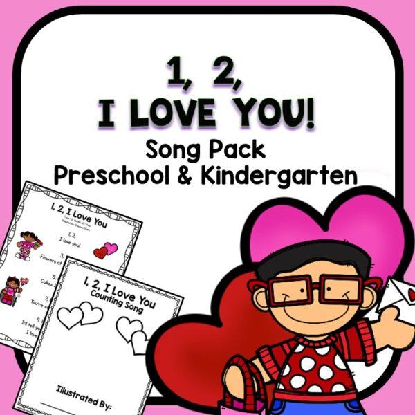 I Love You Preschool and Kindergarten Valentine's Day Song Printable