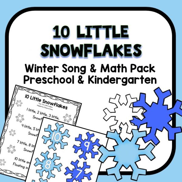 10 Little Snowflakes Circle Time Song