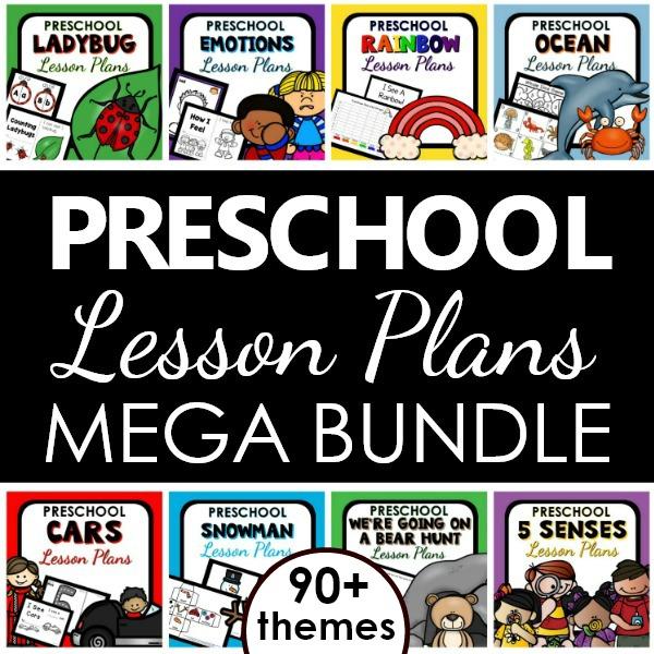 Favorite preschool lesson plans curriculum bundle