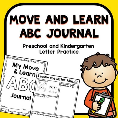 Move and Learn ABC Journal Letter Practice for Preschool and Kindergarten