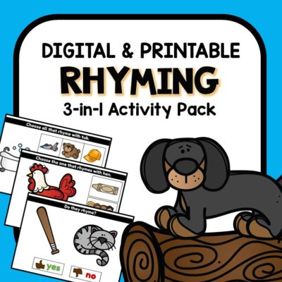 Rhyming Digital Google Slides Activities for Preschool and Kindergarten