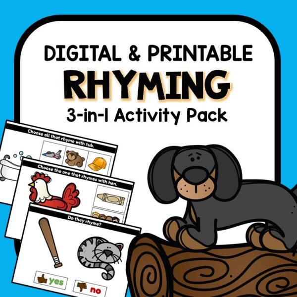 Rhyming Digital Google Slides Activities for Preschool and Kindergarten