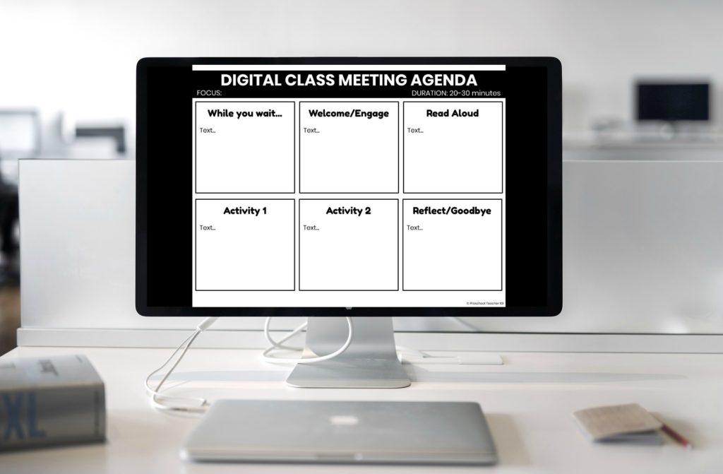 Digital Class Meeting Agenda Sample-Free Download