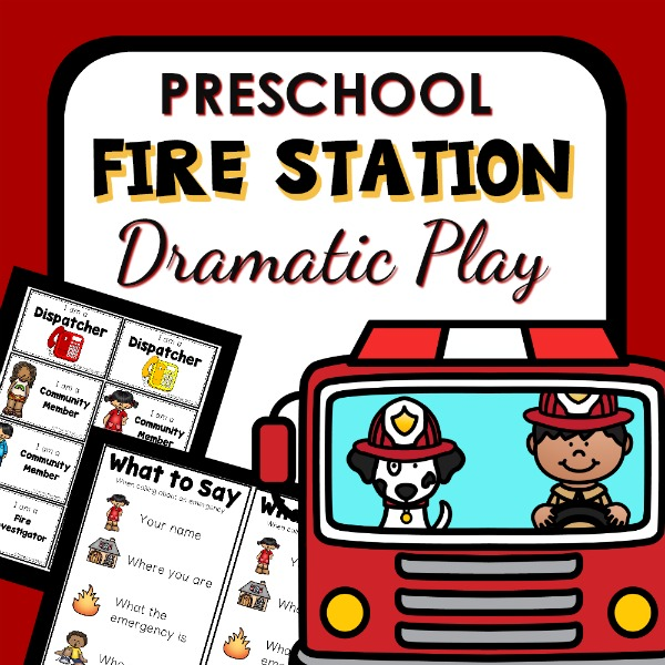 Fire Safety Dramatic Play Pack for Preschool