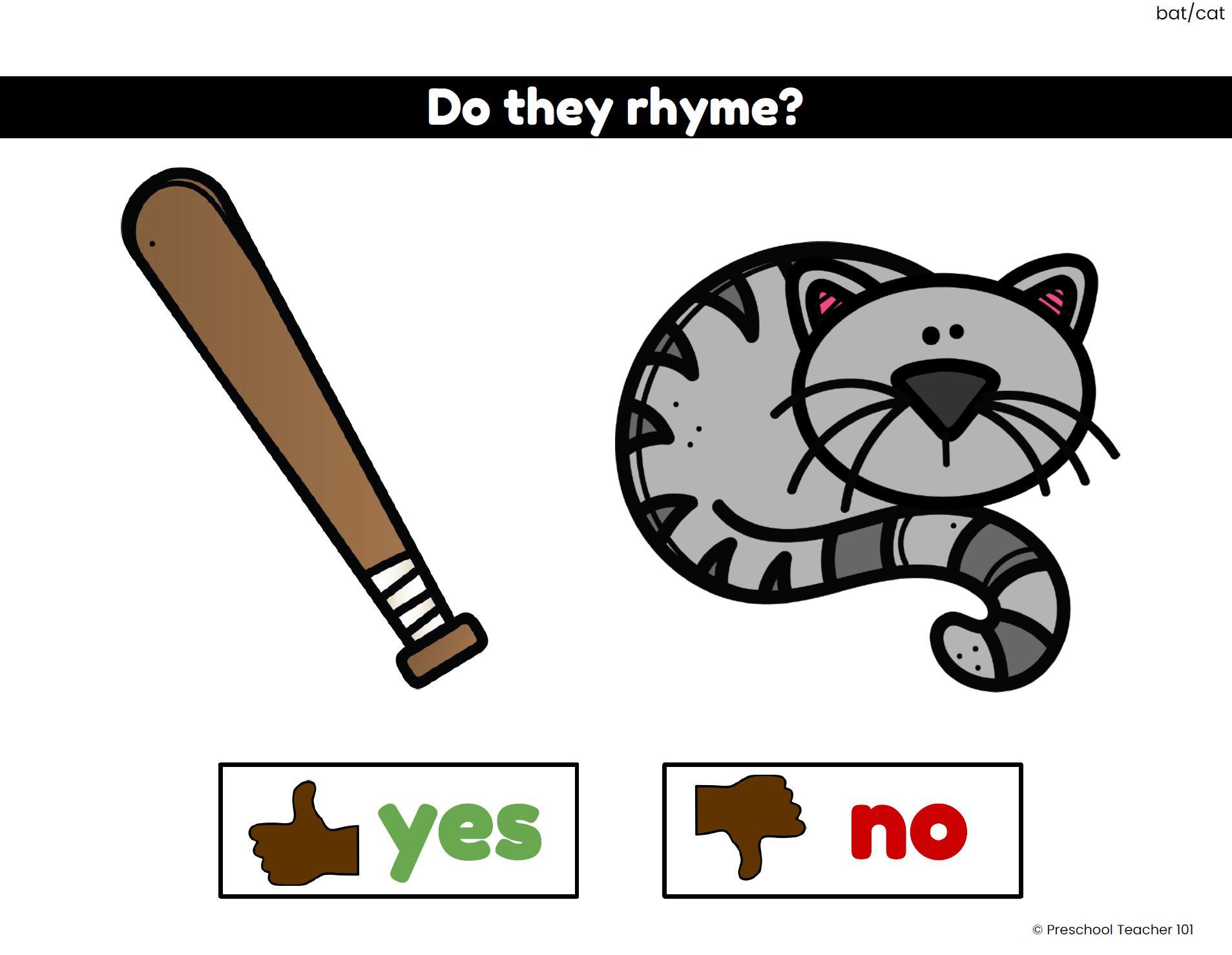 Rhyming Google Slides Digital Activities-Set 1