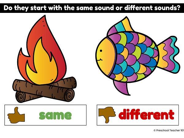 Beginning Sound Digital Activity 1 for Preschool and Kindergarten