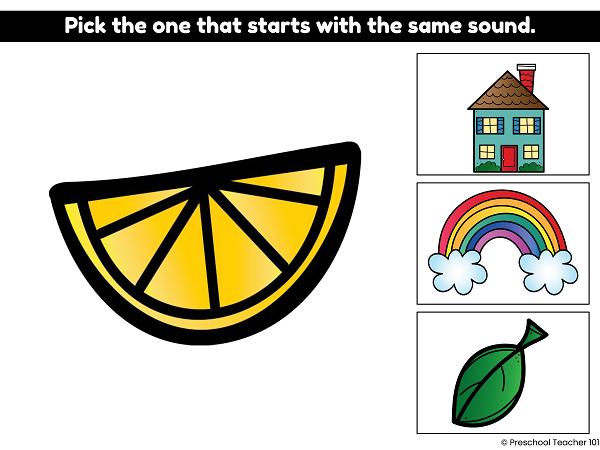 Beginning Sound Digital Activity 2 for Preschool and Kindergarten