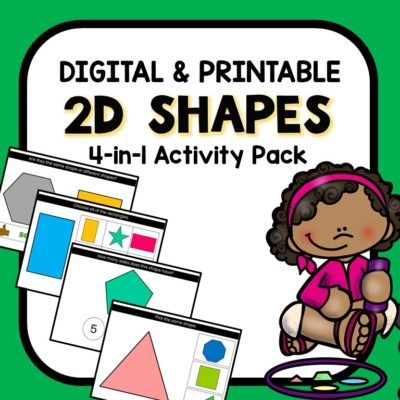 2D Shapes Digital Activities-Google Slides and Seesaw games for preschool