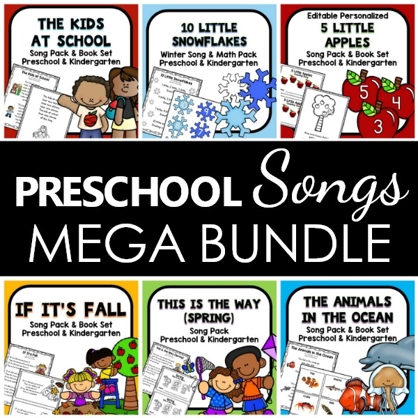 Preschool Song Printables Mega Bundle