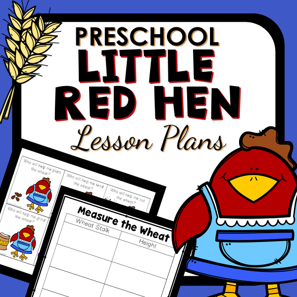Little Red Hen Theme Lesson Plans and Activities-Cover