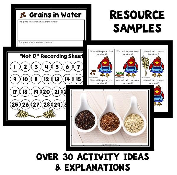 Resource Samples-Little Red Hen Theme Activities